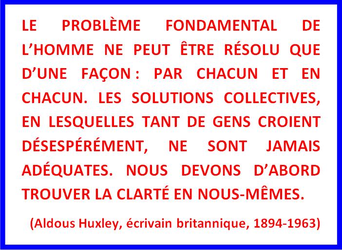 Citation Aldous Huxley